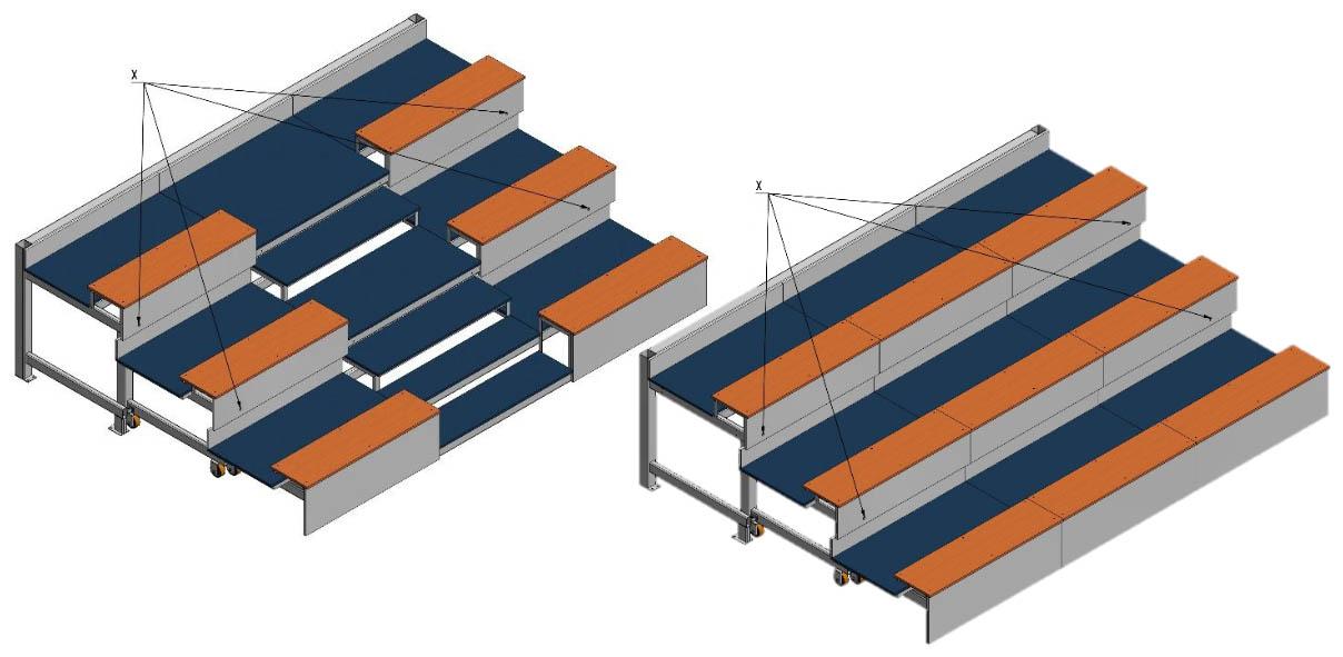 3D vizualizace teleskopické tribuny